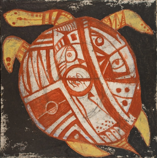 Longneck Turtle Swims: Island in the Universe Limited Edition Prints now available, 10x10""