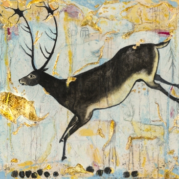 "::SOLD:: Black Reindeer: Limited Edition Prints available only, 10x10"" or 20x20"""